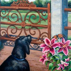 "Pat Conant - ""At The Gate"" © large size acrylic painting."
